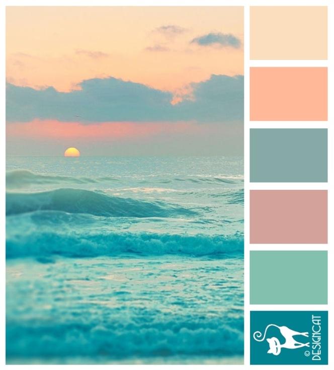 Teal Paint Color Schemes: T / Peach & Teal For Badass Springchicks