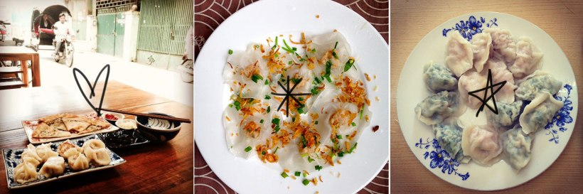 Potstickers at Mama Wong's in Phnom Penh, White Rose Dumplings in Hoi An, Jiaozi at Dong Bei Dumplings in Manila