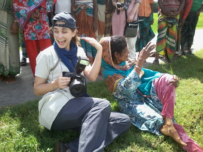 The moment everyone realizes I am covered in cow poop. This wasn't even my most embarrassing moment on this particular trip to Bangladesh – that story involves an epic fall and a fractured wrist.