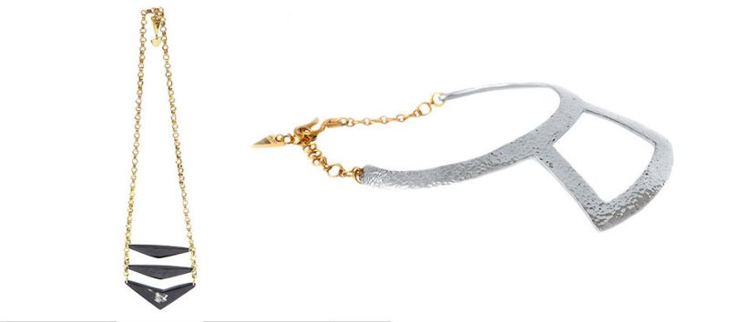 The Kija Necklace and Hamazzi Choker by Adele Dejak.