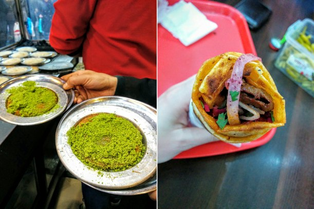 Dinner at Karakoy Lokantasi (left) and a kepbab at Duramzade (right). Noms.