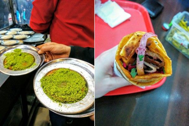 Dinner at Karakoy Lokantasi (left) and a kepbab at Duramzade (right). Noms.