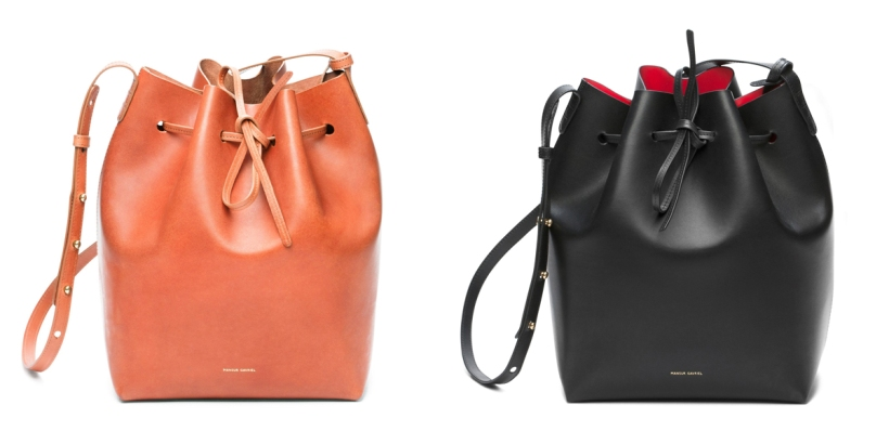 Bucket Bag by Mansur Gavriel in Raw and Flamma.