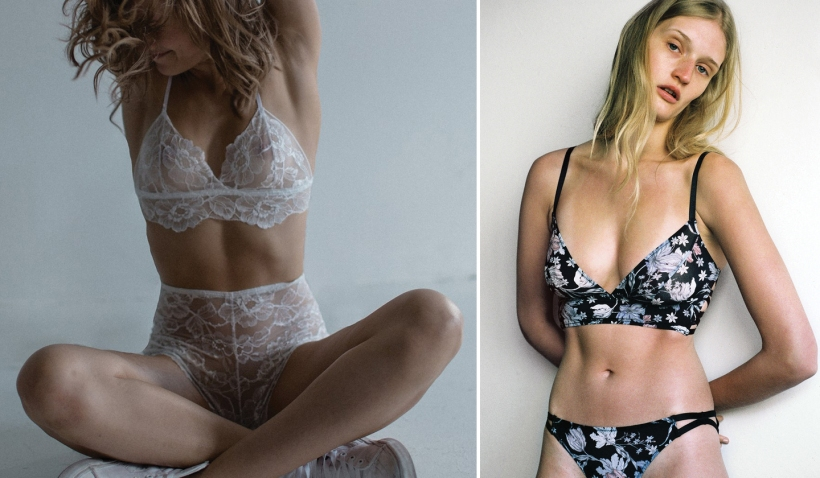 Left: Ava Bralette by Isadore, Right: Harper Softcup Bra by Lonely