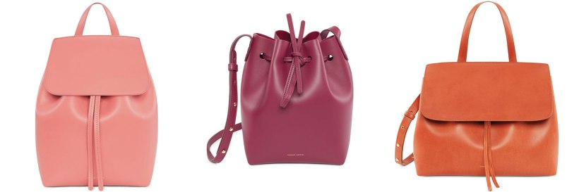 Photo Credit: Mansur Gavriel Backpack, Bucket Bag and Lady Bag.